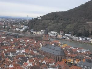 ハイデルベルグ旧市街を望む